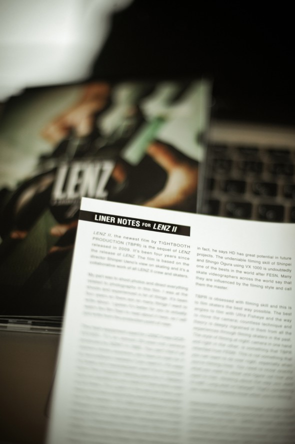 LINER NOTES FOR LENZⅡ